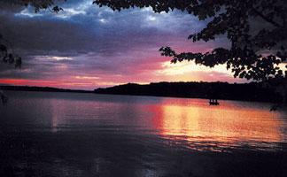 Sunset in Rice Lake