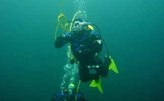 Diving in Wazee Lake