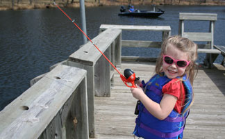 Fishing in Rice Lake