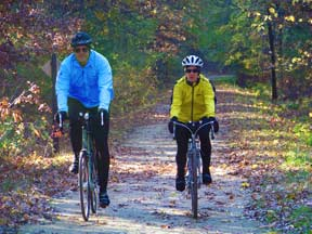 Couple Biking in Onalaska, WI