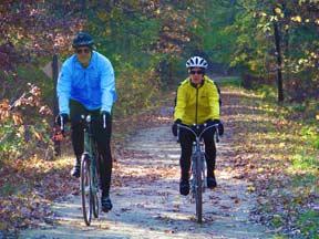 Couple Biking in Onalaska, WI