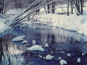 Pheasant Branch Creek in winter