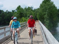 Biking in Minocqua, Oneida County, Wisconsin