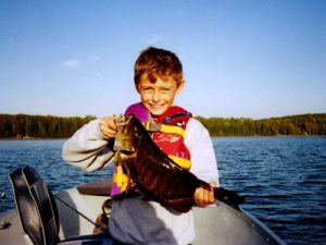 Young Boy with Fish