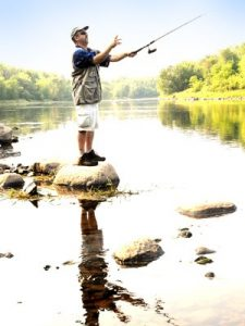 Bass fishing in Rusk County, Wisconsin