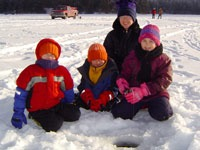 Family Ice Fishing