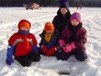 Family Ice Fishing