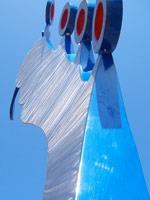 Blue Sculpture