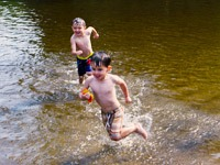 Swimmers in Stevens Point