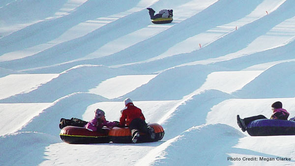 Tubing at Sunburst in West Bend