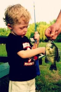 ONA boy with sunfish