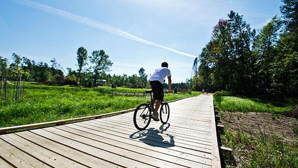 Biking in Stevens Point