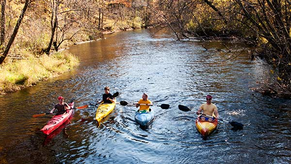 Kayaking in the fall color