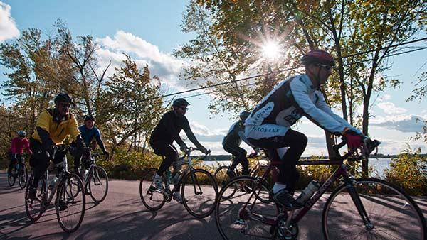 Biking in the fall
