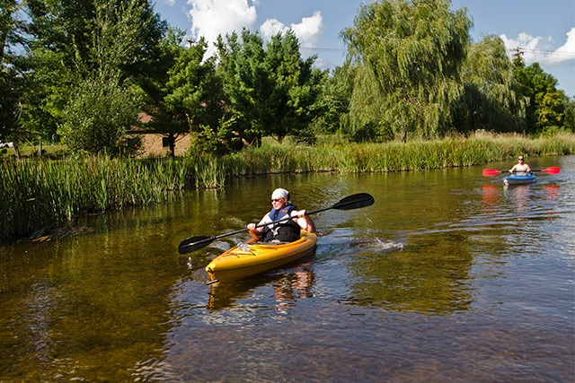 Kayaking in Stevens Point