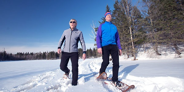 Snowshoeing in the Blue Hills