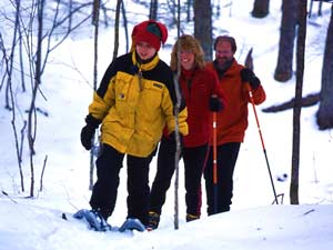 Snowshoeing in Vilas County, Wisconsin
