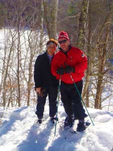 Snowshoeing in the Blue Hills of Wisconsin
