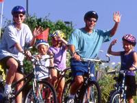 Family Biking Together