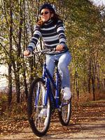 Biker on bike trail