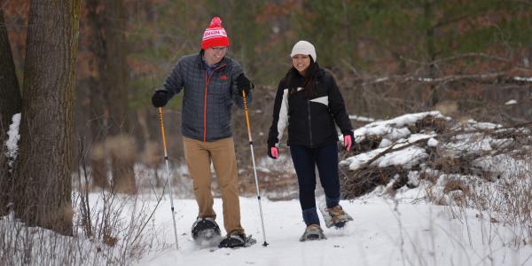 Winter Snowshoe Scene