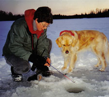 Ice Fishing in Boulder Junction, WI